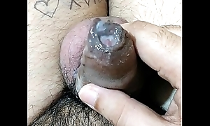 Juicy Cum: Amateur Indian guy playing with jizz (Only be required of females)